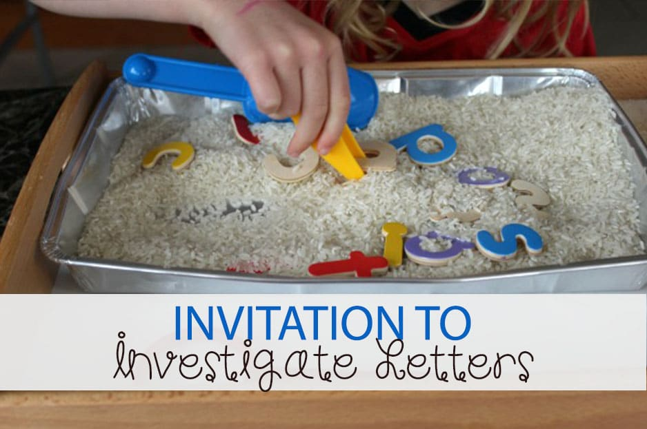 Invitation to Investigate Beginning Letter Sounds