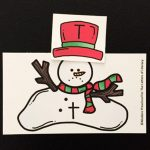 Melted Snowman Alphabet Match