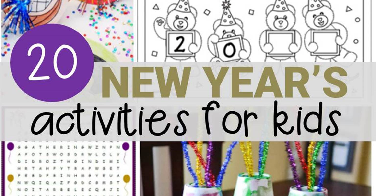 20 New Year's Activities for Kids - fun for classroom or home!