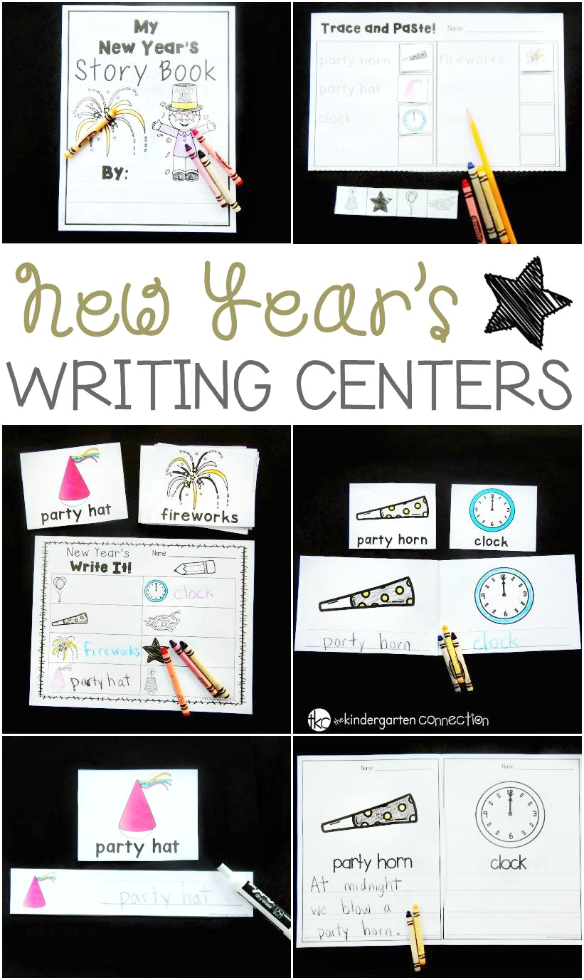 Awesome New Year's writing centers for kids!