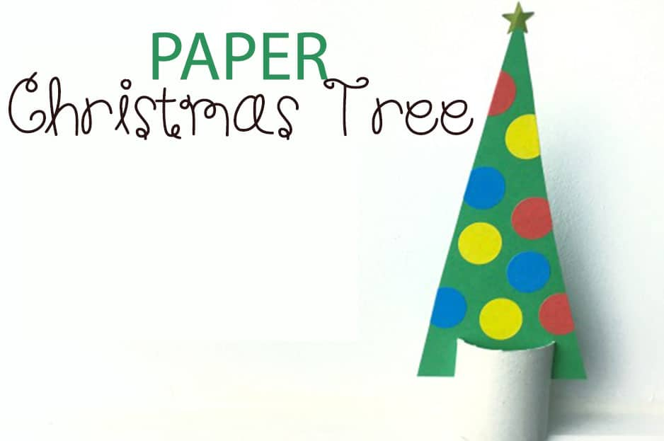 Paper Christmas Tree: Christmas Craft for Kids