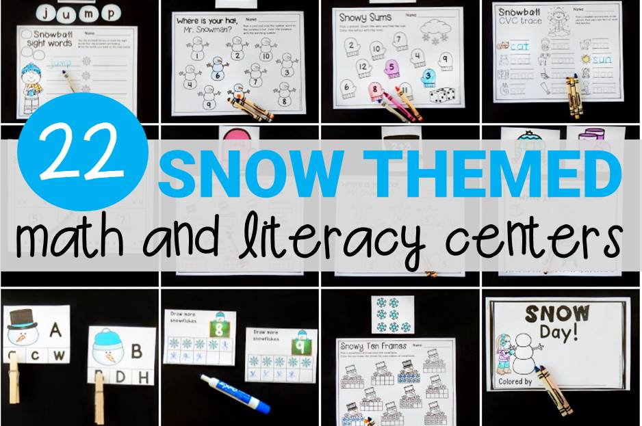 22 Print and Play Snow Centers