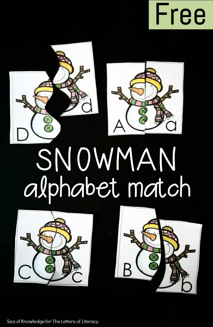 Preschoolers and kindergartners can sharpen their upper and lowercase letter recognition skills with this fun alphabet match!