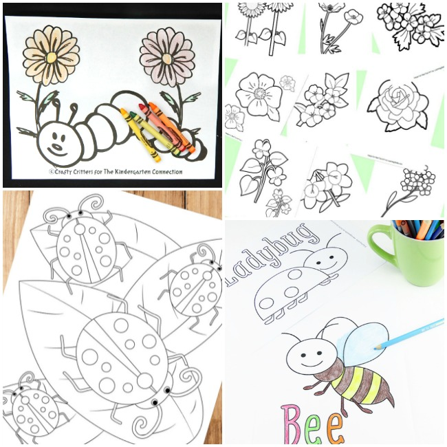 picture about Printable Arts and Crafts named 50+ Spring Crafts and Pursuits for Little ones