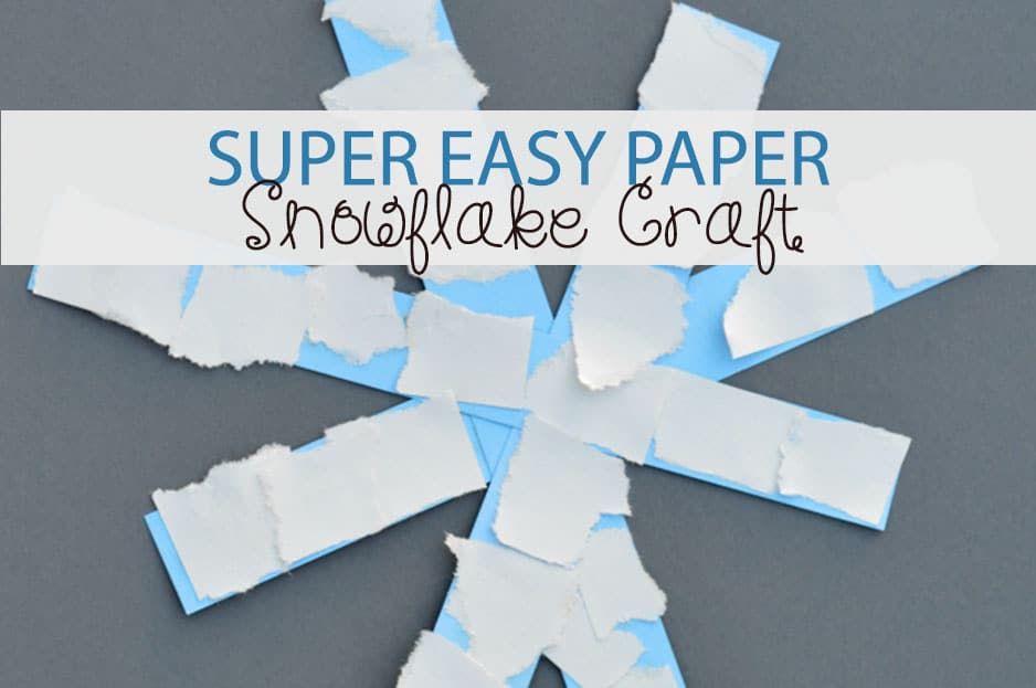 Super Easy Paper Snowflake Craft