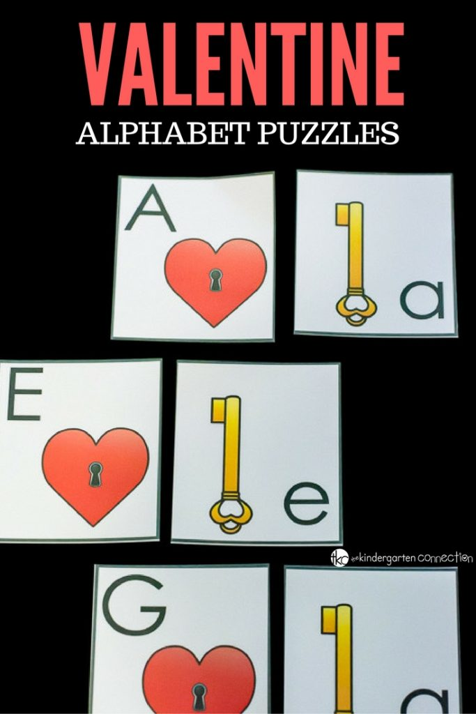 These Valentine alphabet puzzles are great for alphabet recognition, hands-on and they allow your child to work independently.