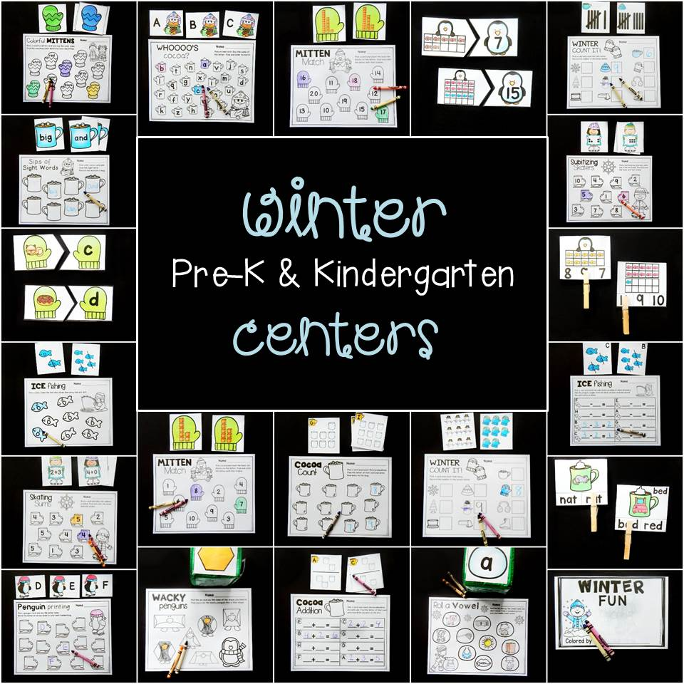 Awesome winter centers for Pre-K and Kindergarten!