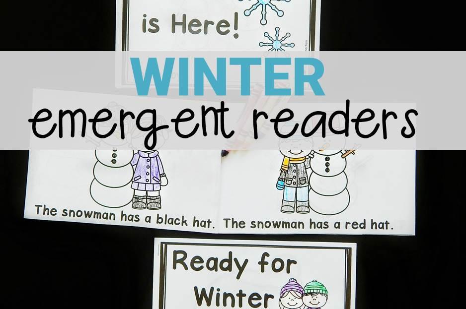 winter emergent readers for Kindergarten!