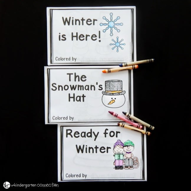 printable emergent readers for winter that are great for Kindergarten!