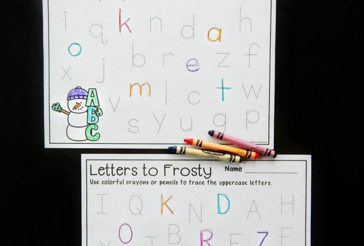 Snowman Alphabet Tracing Printables