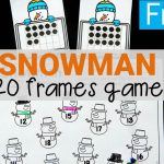 Snowman 20 Frames Math Game