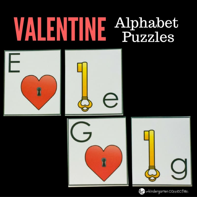 Practice alphabet recognition with these free printable Valentine alphabet matching puzzles! They're easy to put together and low cost!