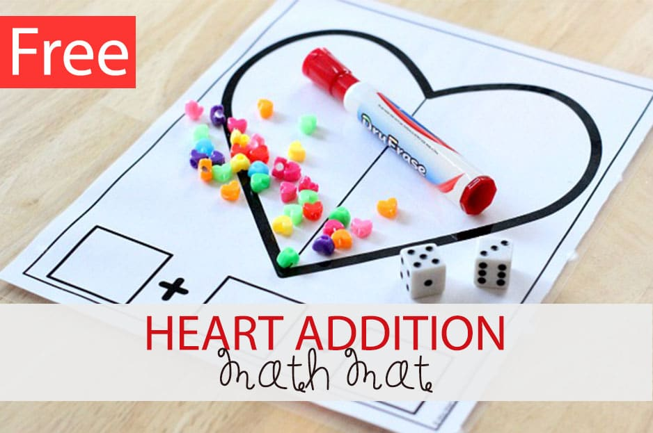 Heart Addition Math Mat
