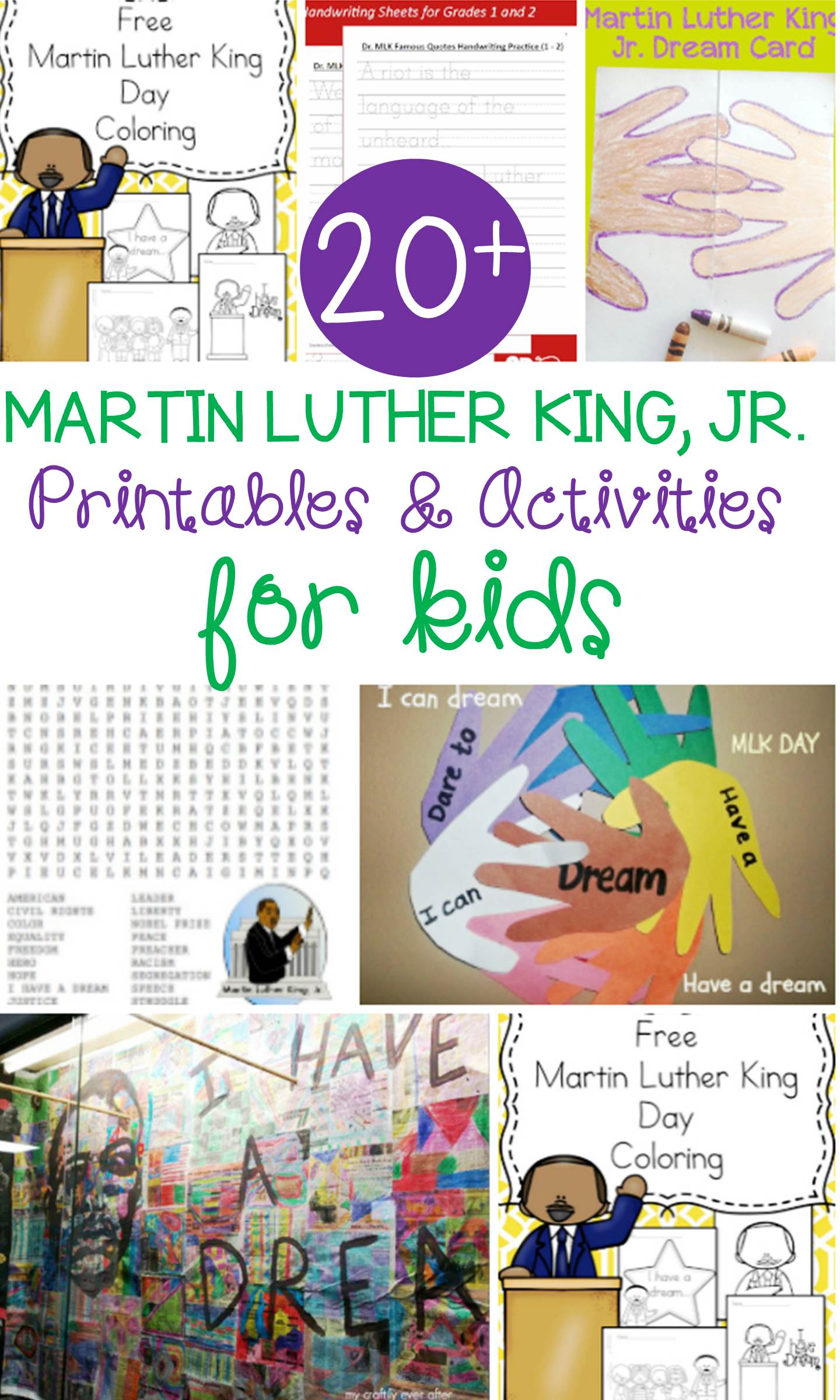 Looking for some Martin Luther King, Jr. resources and activities to use with your students in the classroom? This collection of Martin Luther King, Jr. Activities for kids are sure to help your kids remember this great man!