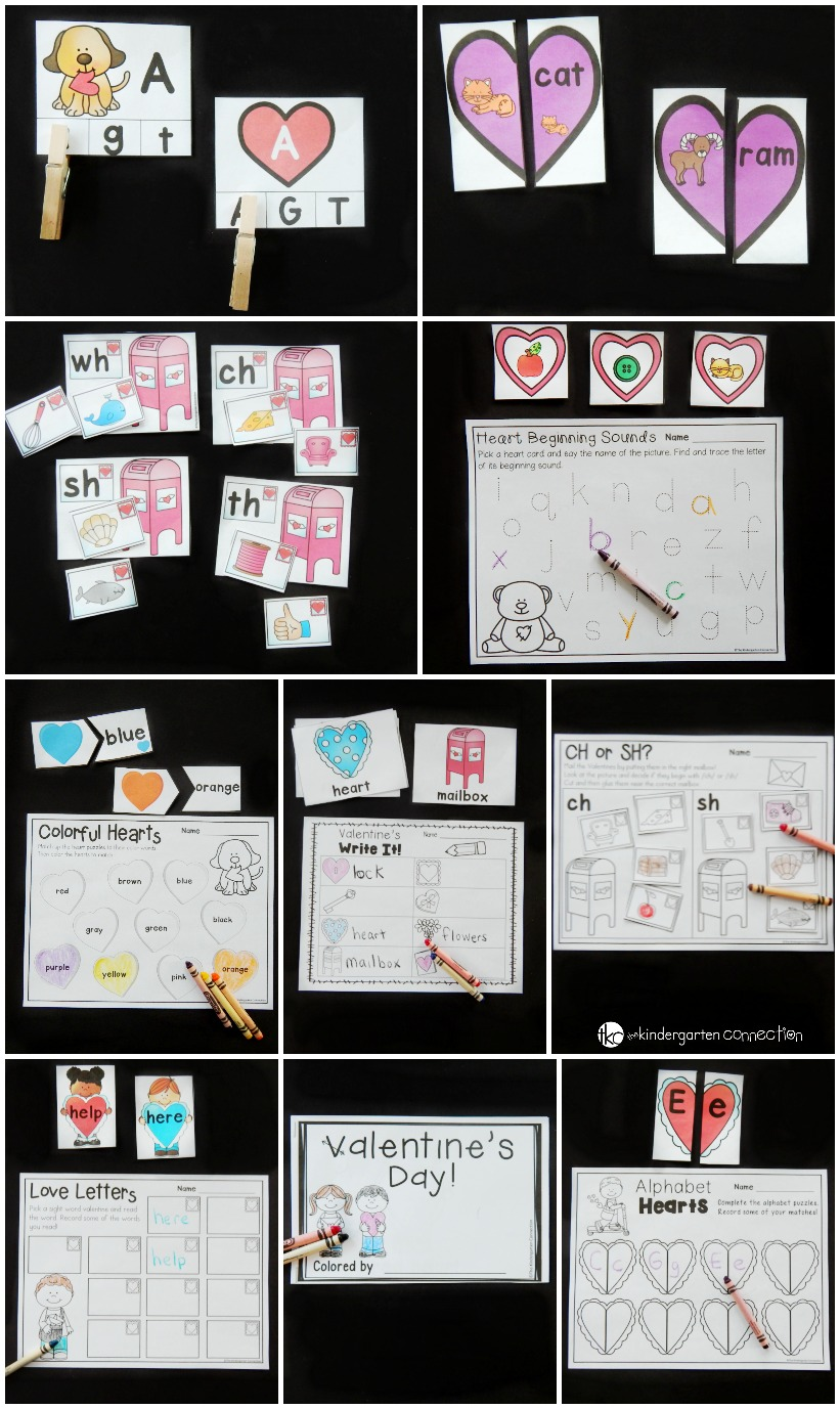 These Valentine's Day Centers are perfect for Pre-K and Kindergarten! So many fun Valentine's Day printables and activities that kids will love!
