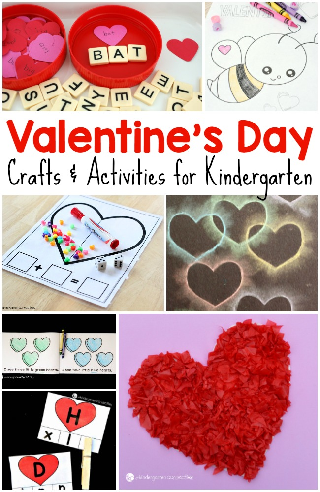 Valentines Day Crafts and Activities that are perfect for Kindergarten!