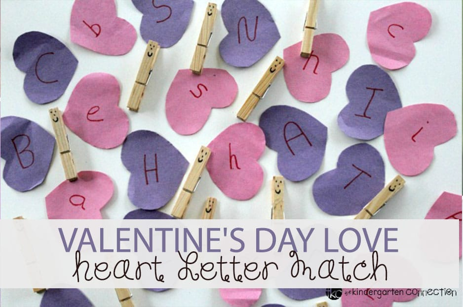 Valentine's Day Love Heart Letter Match
