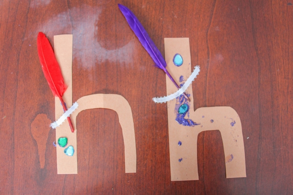 The next letter we're doing in our Kindergarten Letter Craft series is the lowercase letter H craft, H is for Hat.