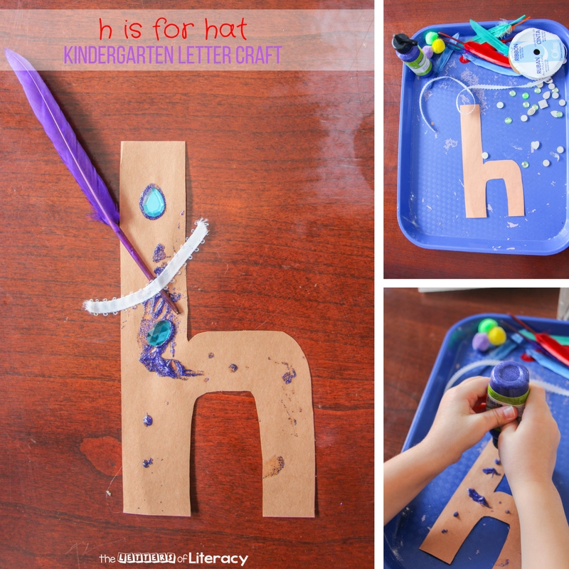 Lowercase Letter H Craft H is for Hat Kindergarten Letter Craft