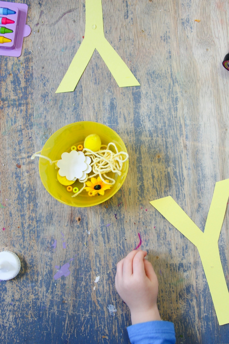 Y is for Yellow is a open-ended collage kindergarten letter craft, great for letting imagination flow in a bright and fun letter Y craft.