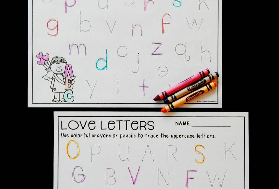 Valentine's Day Alphabet Tracing Printables