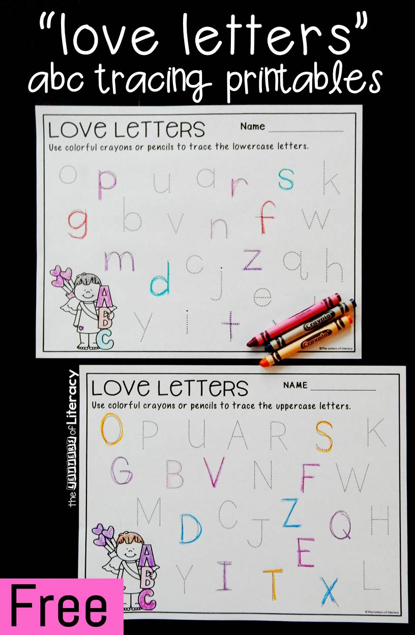 FREE Printable Alphabet Tracing Valentine Activity