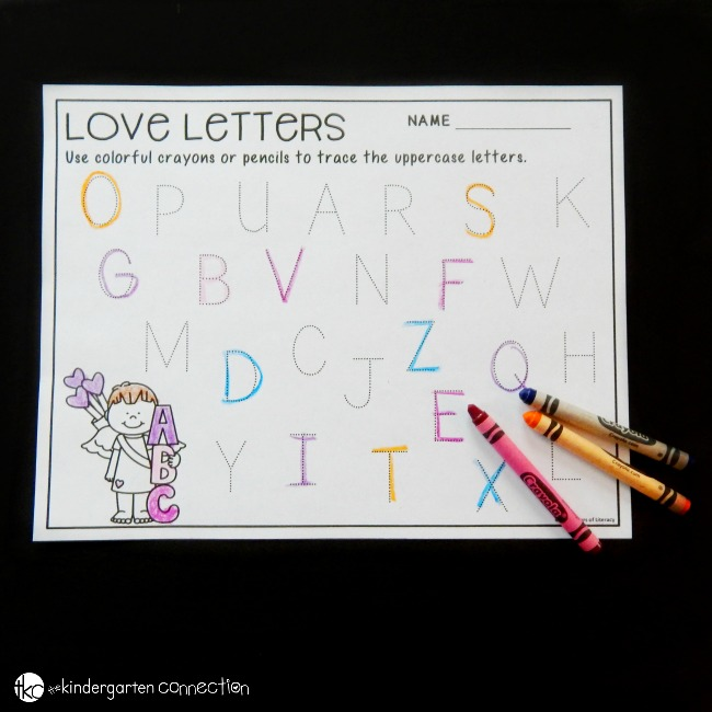These Valentine's Day alphabet tracing printables are such a fun way to work on letter recognition, letter formation and printing practice!