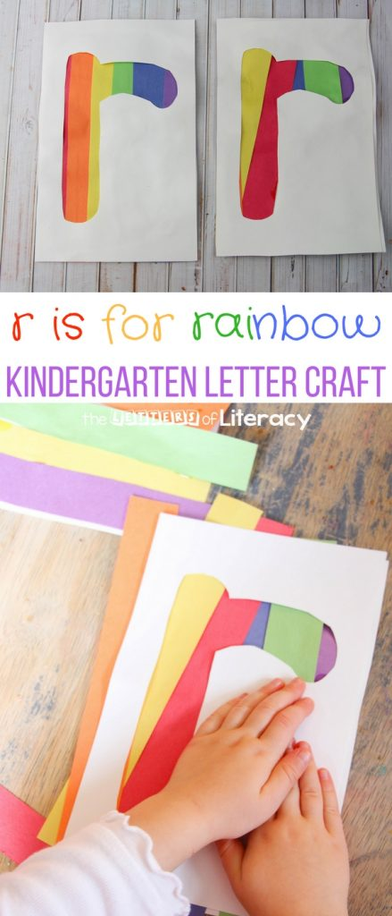 """R"" is for Rainbow, Letter ""R"" Craft for Kids!"