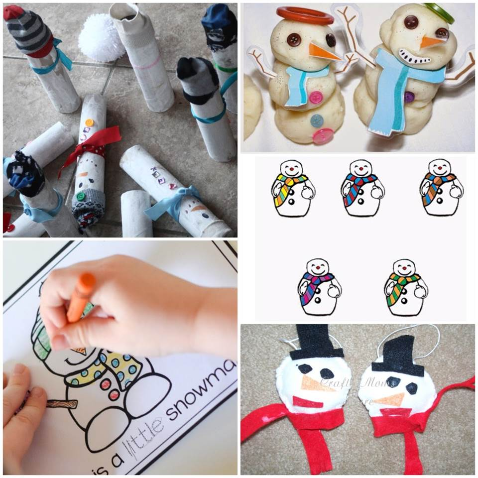 These snowman activities for kids are a great collection of snowman printables, sensory play, hands-on learning, and more for preschool and Kindergarten!