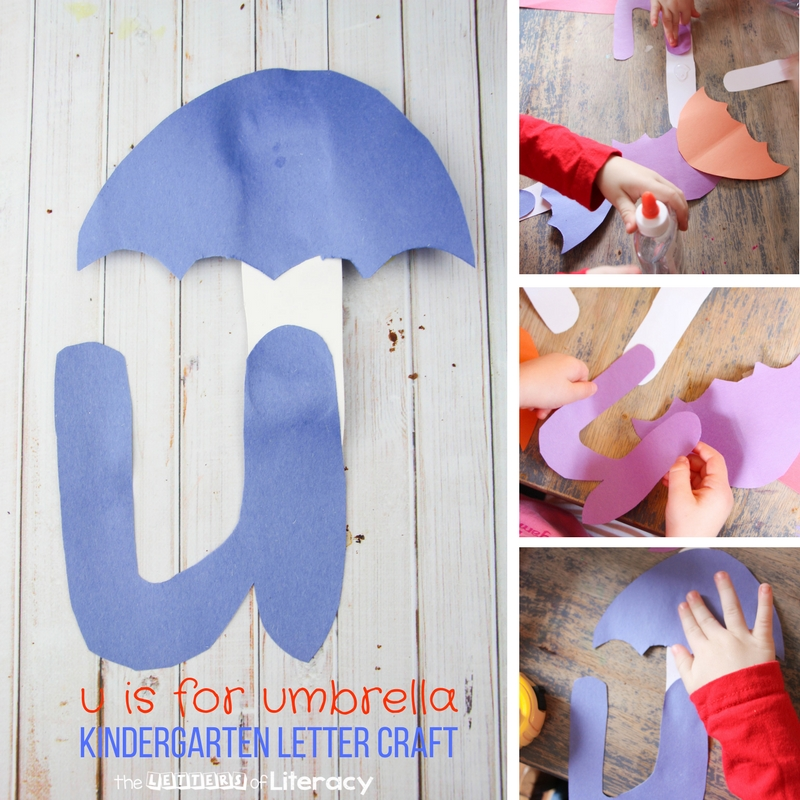 This U is for Umbrella Kindergarten Letter U Craft is so fun for learning letters and sounds in a hands-on, engaging way!