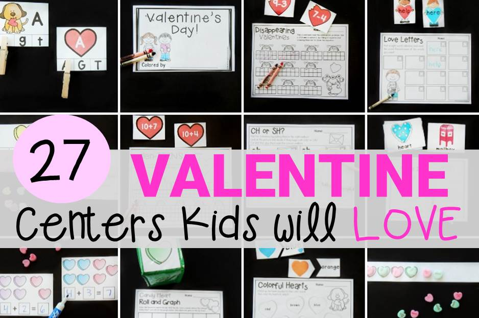 Awesome print and play Valentine's Day Centers for Pre-K and Kindergarten!