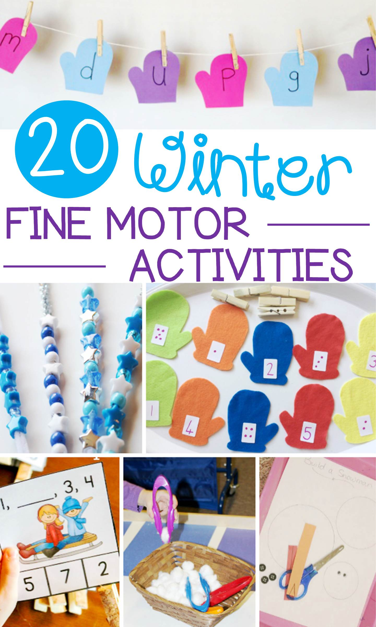 These winter fine motor activities are so fun for preschoolers and kindergarteners to to develop pre-writing and early writing skills!