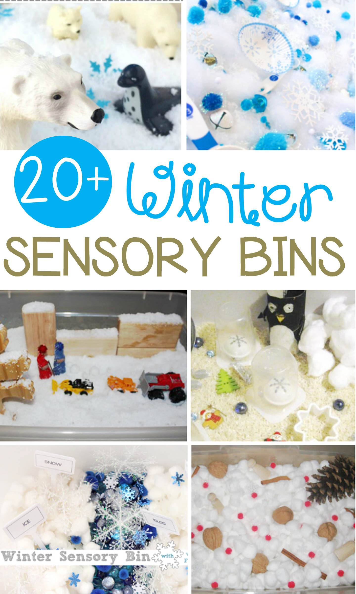 Sensory bins are great for kids and so engaging for sensory play! These winter sensory bins for kids are the perfect hands-on kids' winter activity!
