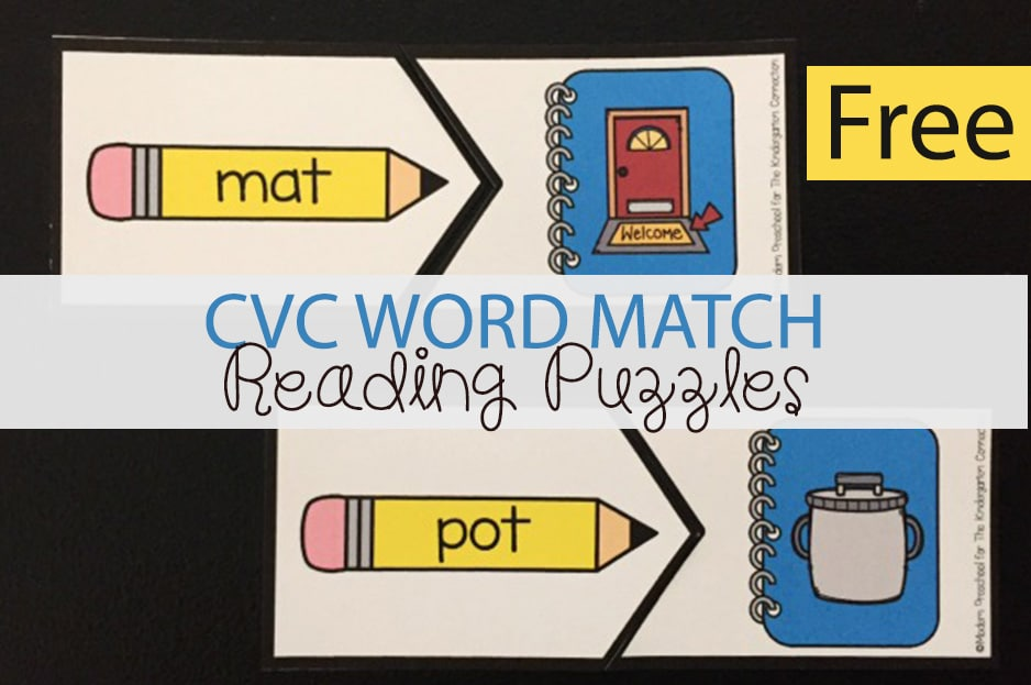 CVC Word Match Reading Puzzles