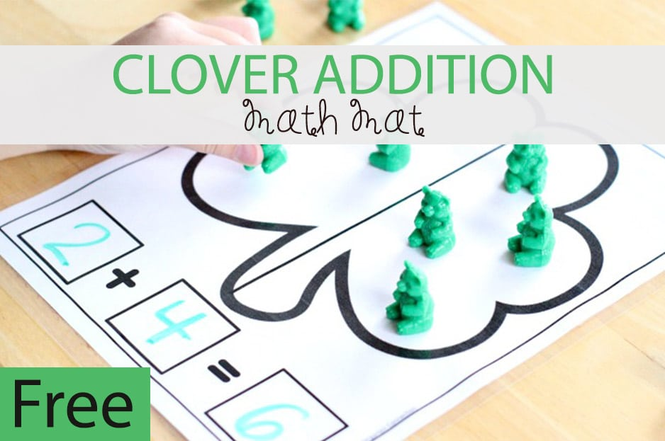 St. Patrick's Day Clover Addition Math Mat