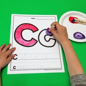Letter Painting Fine Motor Activity