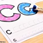 Fine Motor Letter Painting with Pom Poms