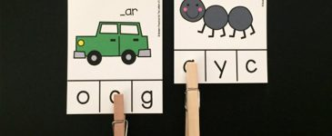 Initial Sounds Clip Cards for Beginning Readers