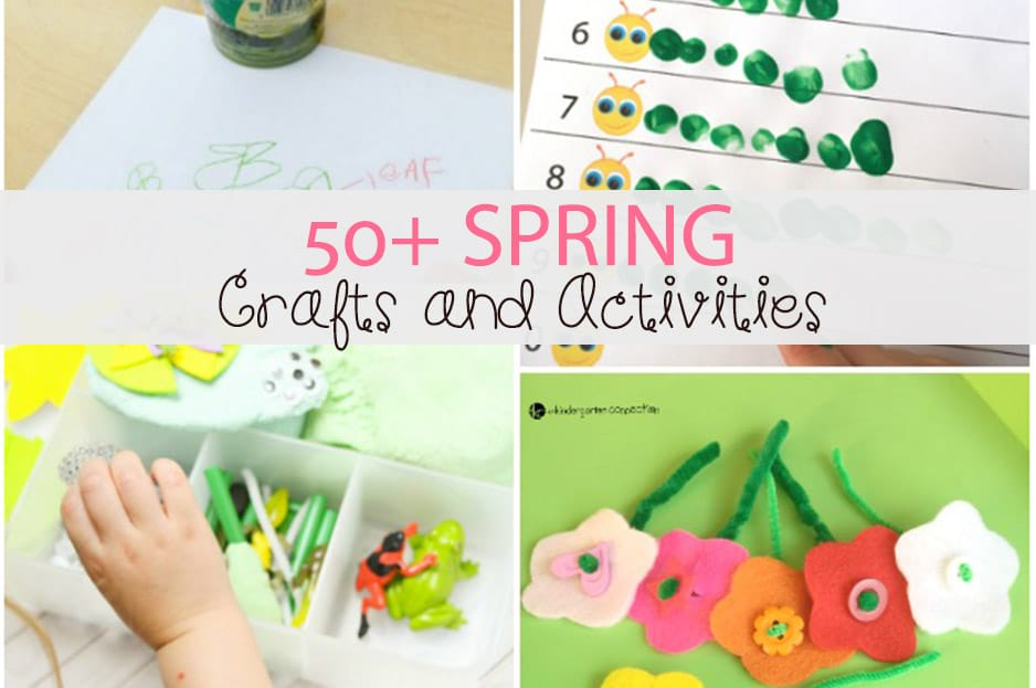 Awesome spring crafts and activities for kids!