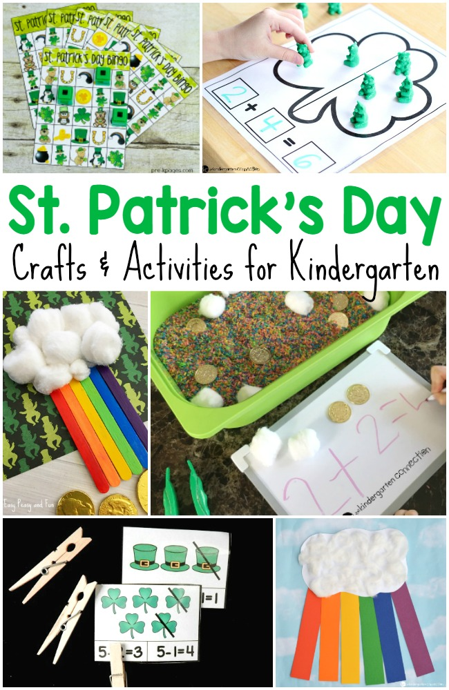 Need some fun ideas for St. Patrick's Day activities for kids? Here's a ton of free printables, crafts, activities, and more that kids will love!