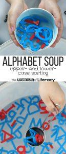 Alphabet Soup Sensory Bin