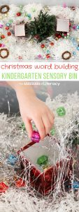 Christmas Word Building Sensory Bin