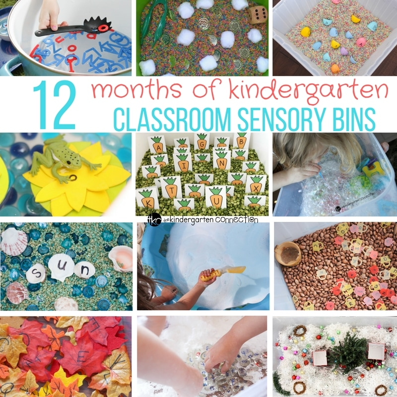 12 Months of Classroom Sensory Bins