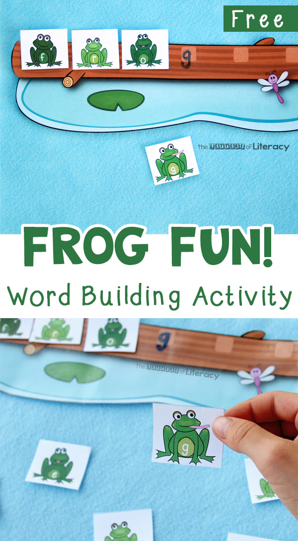 Try this free frog word work activity, a fun and simple way for kids to practice spelling, reading and writing.