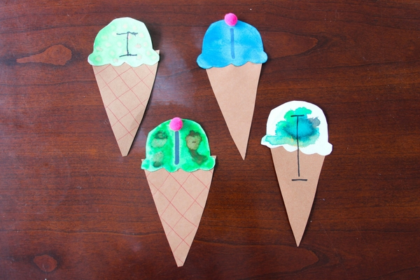 My kids love ice cream, so it was obvious to choose I is for Ice Cream as the Letter I Craft for this week's Kindergarten Letter Craft!