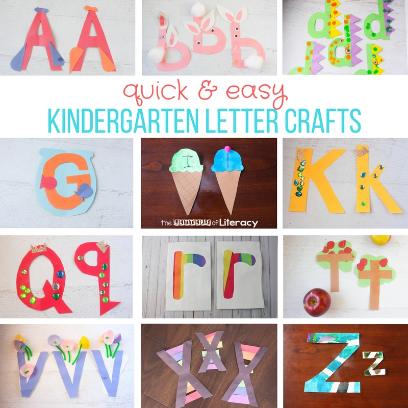 celebrate the alphabet with these quick and easy kindergarten letter crafts they are perfect for