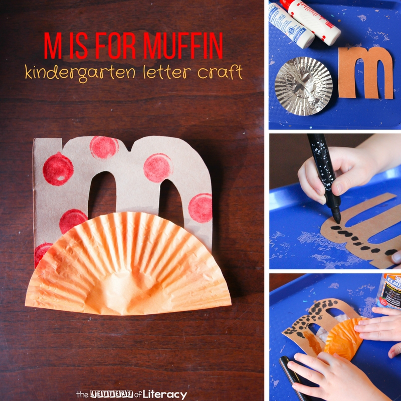 For our letter M craft, M is for Muffin is our newest addition to our kindergarten letter craft series. You can make a capital and lowercase M.