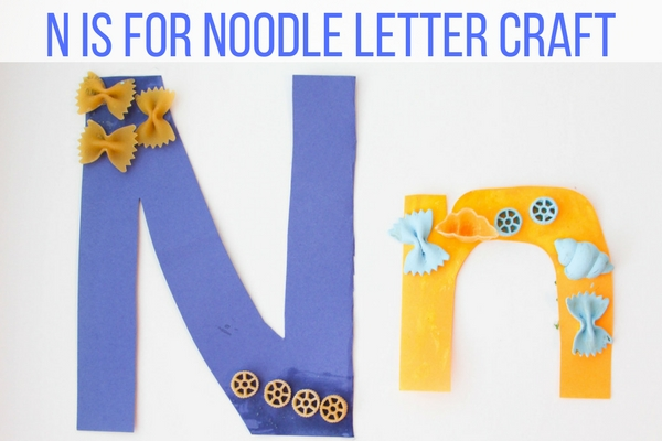 My students are loving the food letter crafts! Today I'm sharing this super cute and easy N is for Noodle Kindergarten Letter N Craft.