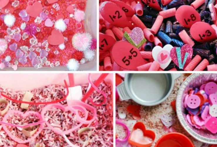 Valentine's Day Sensory Bins Kids Will Love