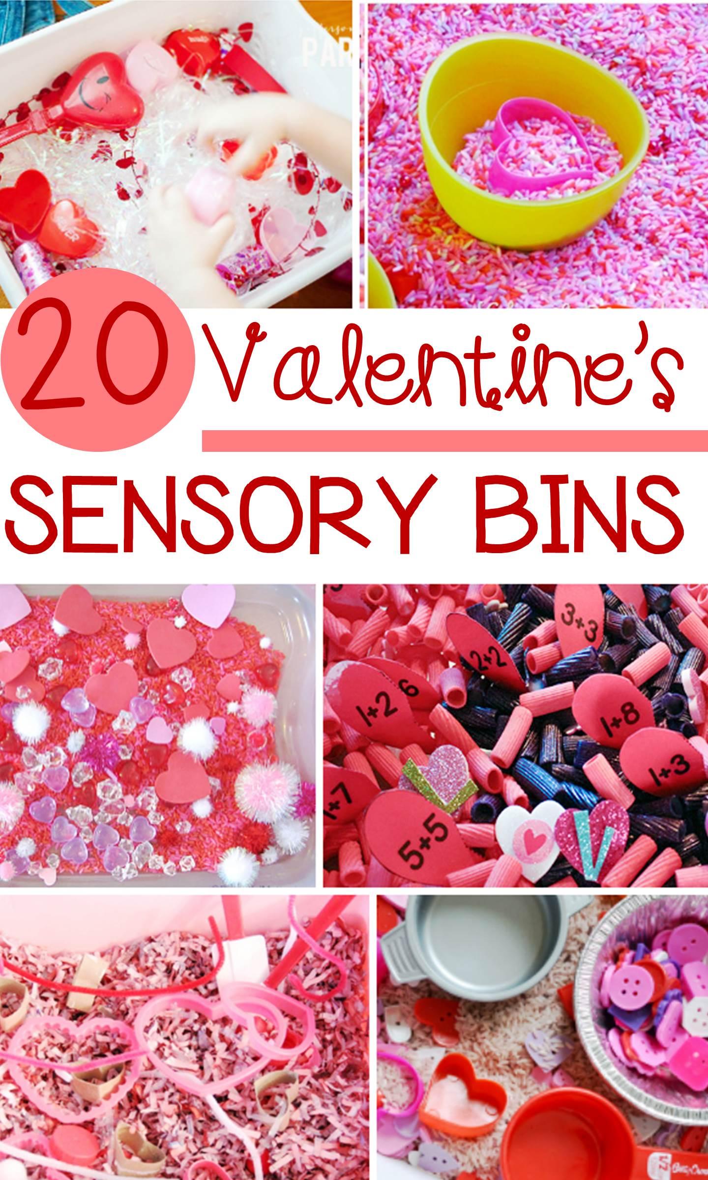 20 Valentine Sensory Bins Kids Will Love for Pre-K and Kindergarten!